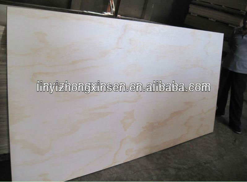 furniture grade pine F/B plywood for Russia Market