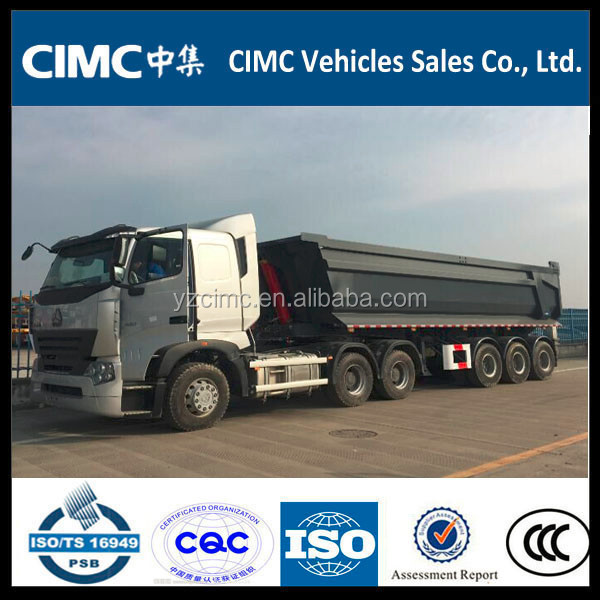 CIMC 30cbm 3 Axle Tipper Trailer/ U Shape Dumper Trailer