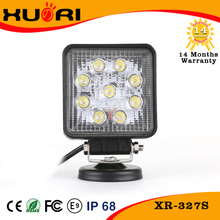 Factory directly! New type square auto led off road light 4'' work light led 27w, led driving light 27w
