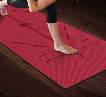 Fitness cheap Yoga Mat Custom size TPE Yoga Mat for Yoga Women