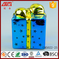 Factory direct sell lighted glass box for christmas