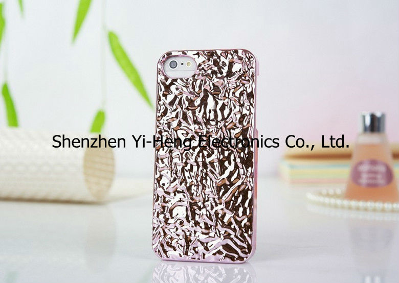 Wholesale New Arrival For iPhone5 5s Metal PC 3D Cover Fashion Holding case 6 colors for choose skin for iphone5 5s