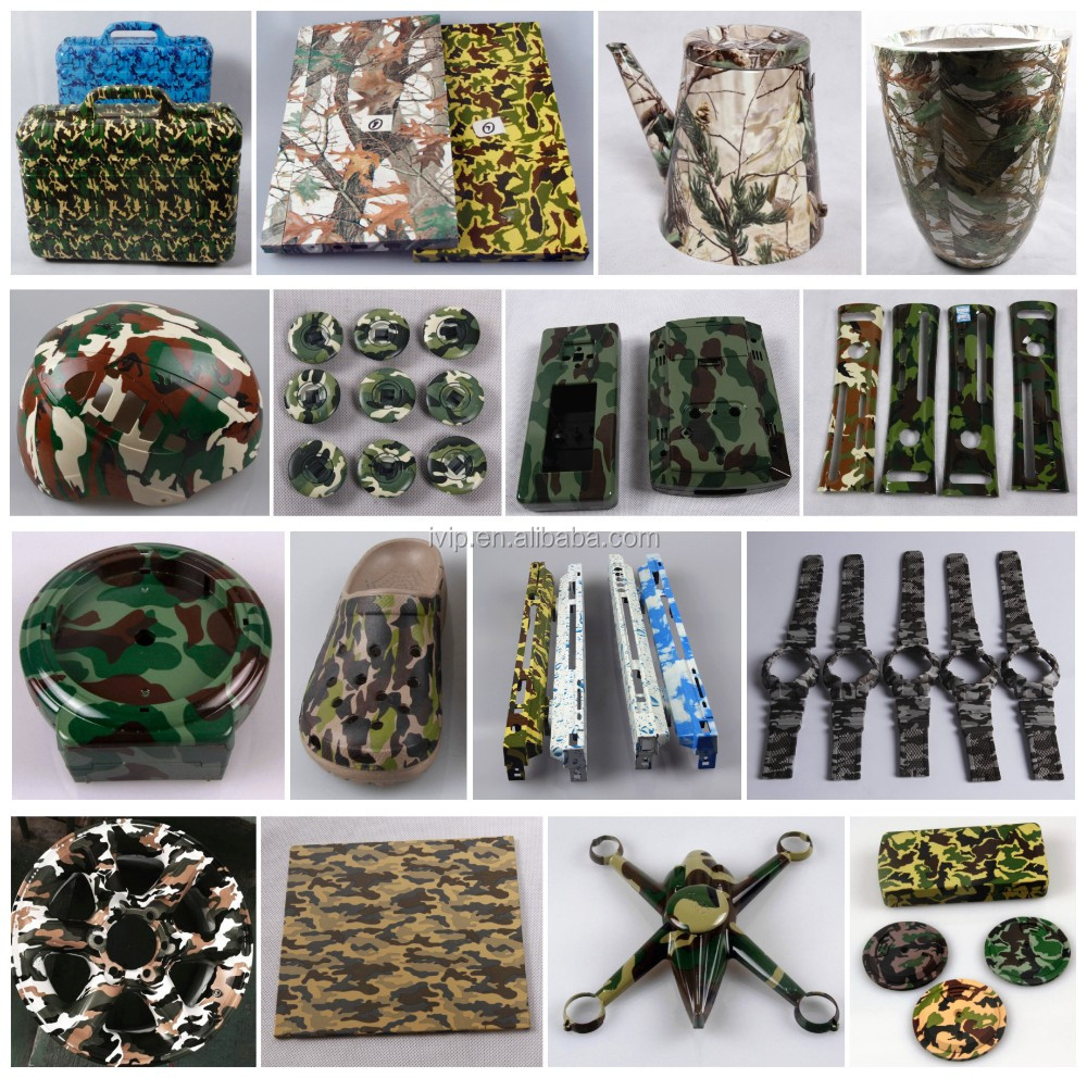 Camouflage water transfer cubic printing film plastic box hydrographic case