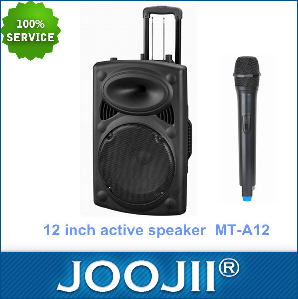 Outdoor speaker with wireless microphone