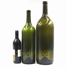 High quality 6L antique green wine glass bottle