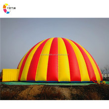 New design colorful commerce cheap big inflatable air dome tent giant inflatable igloo tent for sale