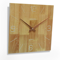 manufacturer Square Shaped Simple Decorative Customizable 35cm Wooden clock