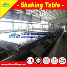 Placer coltan concentrate shaking table