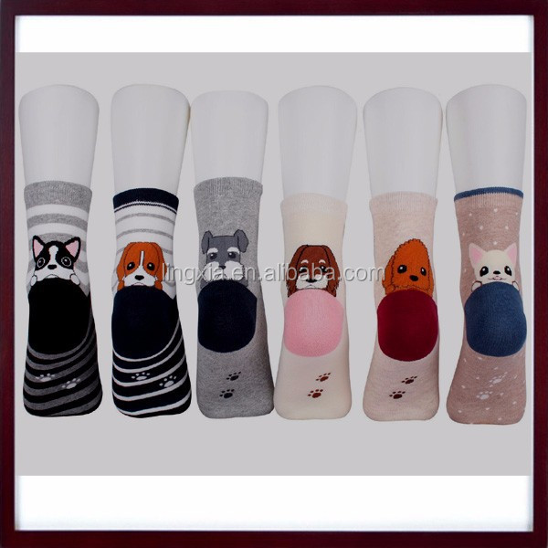 Fashion Cotton 3D Printed Cartoon Animals Low Cut Ankle Socks, Lovely Cartoon Animal Girls Comfortable Cotton Ankle Socks
