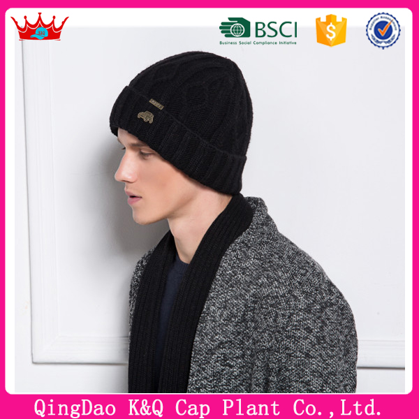 Wholesale fashion high quality reflective knit hat