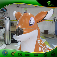 ECO-friendly PVC Inflatable Sika Deer Animal Toy / Lovely Inflatable Deer Balloon For Playing