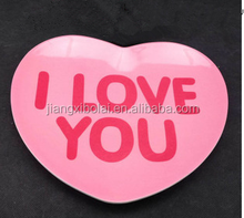Hot sales melamine plate heart-shaped soup plate ,for love niceplastic plate,lovely plate&saucer ,