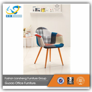 Fabric Bar Stool Ladder Back Wooden Legs Bar Chair