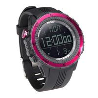 PyleSports Digital Multifunction Active Sports Watch with Altimeter (Pink)