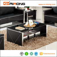 Darker modern office reception desk design cheap glass coffee table