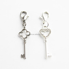 High quality silver jewelry pendant dangle charms key pendant jewelry