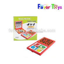 4 in 1educational magnetic travel game play chess game toy for kids