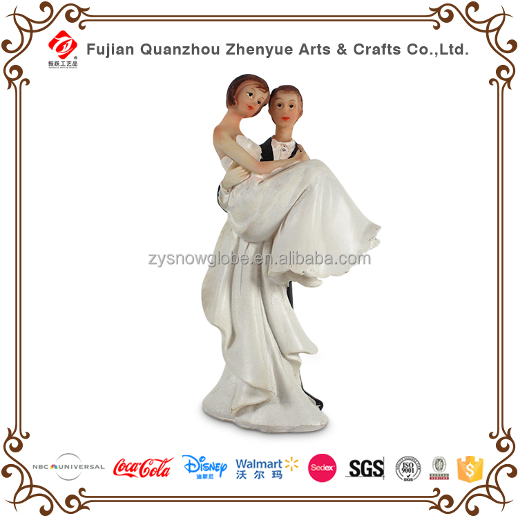 Newest Custom Bride and Groom Resin Wedding Cake Topper