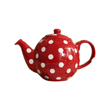 Elegant Ceramic White Dot Porcelain Tea Pot