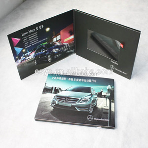 Hot sale video brochure/ video book/ video card in print