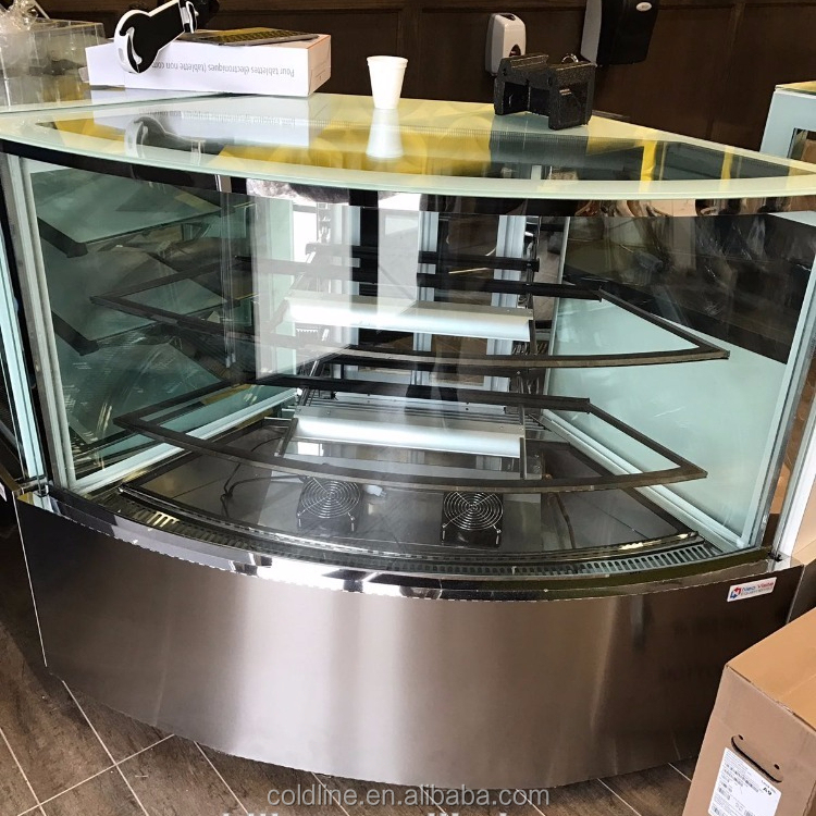 Refrigerated cake display case/cake showcase/cake display counter