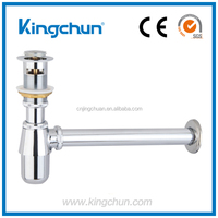 Sales promotio bathroom siphon sink bottle trap installation(J281-F)