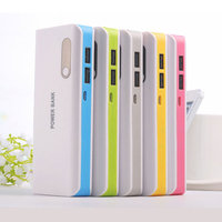 High capacity 10000mah power bank charger dual wire oem&odm mobile phone external battery portable charger