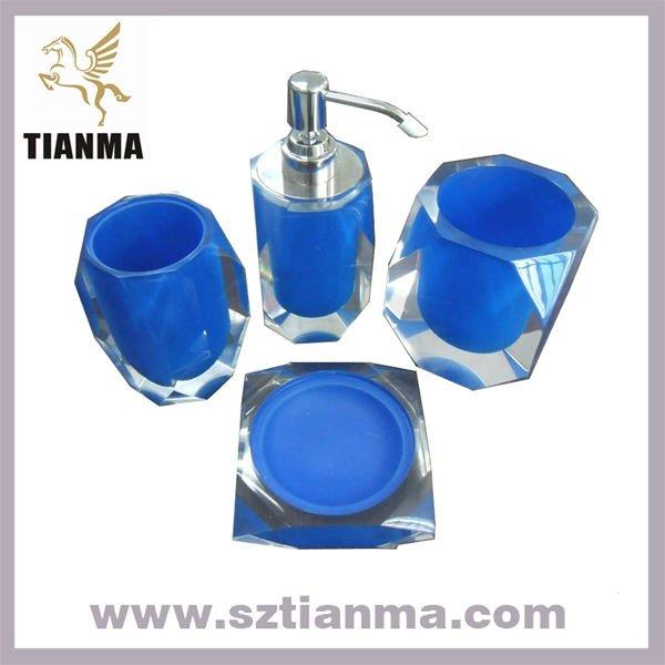 Set De Baño Souvenirs:azul polígono accesorios de baño conjuntos de baño regalos-Sets de