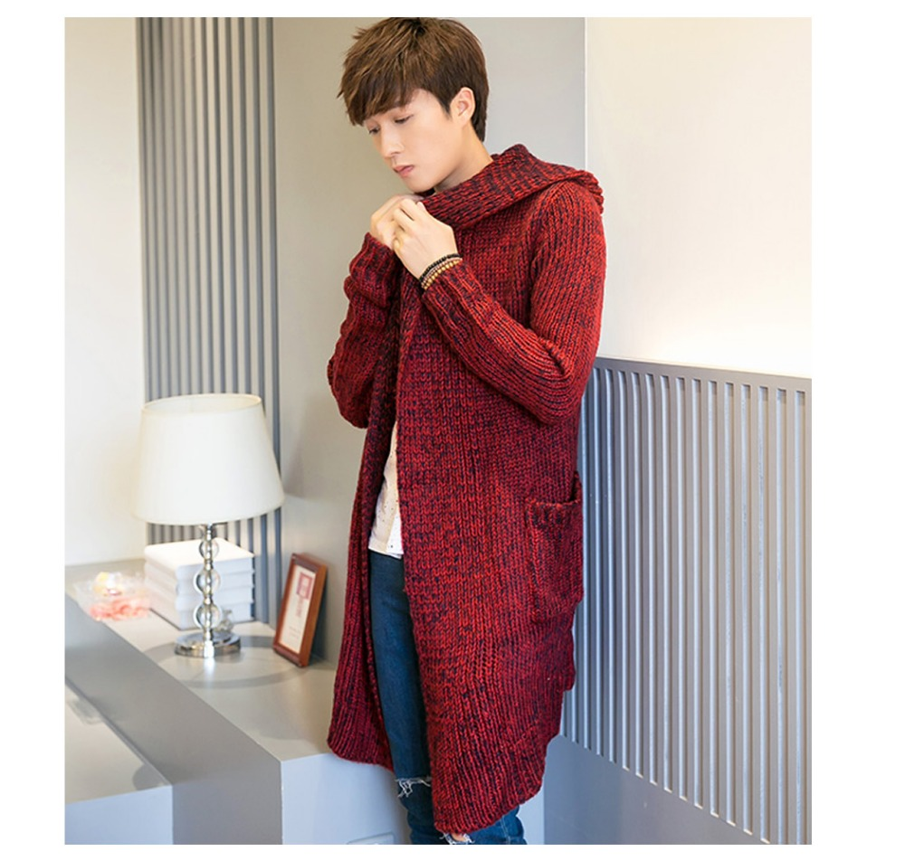 Fashion high quality Hooded Cardigan man cashmere sweater