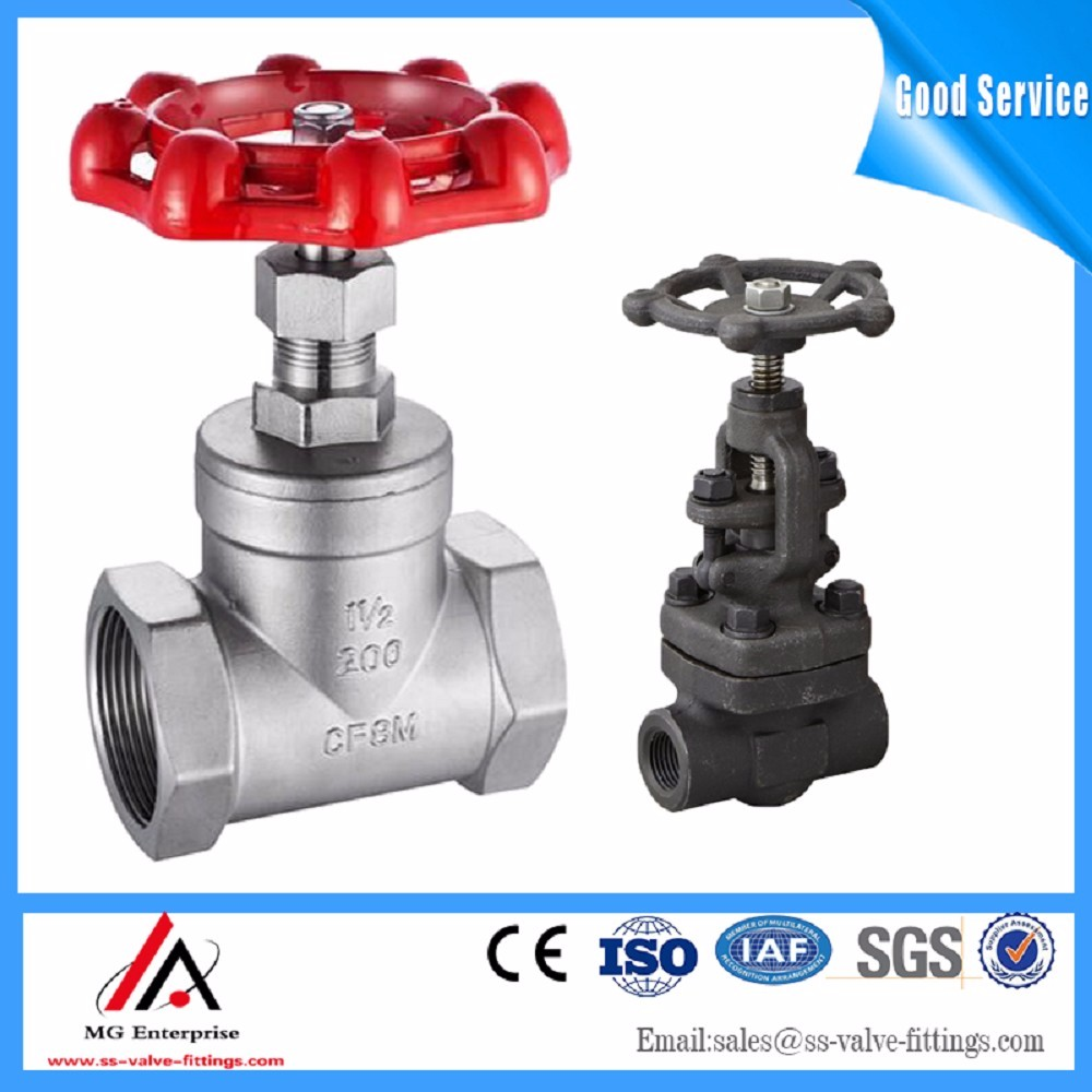 Screw thread cast steel gate valve hot sales