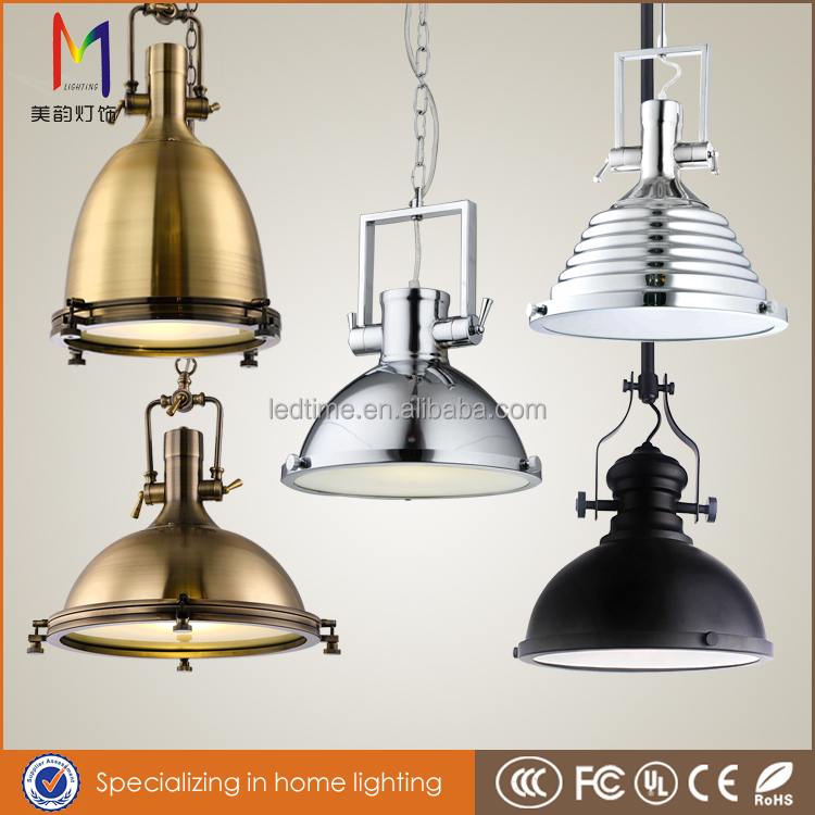 2016 antique vintage new metal industrial chandelier lamp/ bedroom lamp/metal pendant light for home /hotel/bed