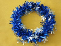 30cm plastic garland snowflake Christmas wreath hanging decoration