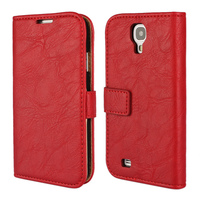 CA317 Factory Price High Quality For Galaxy S5 Leather Wallet Case for Galaxy S4 Leather Stand Flip Cover