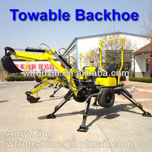 Direct mini wheel towable backhoe