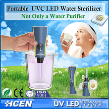Camping and hiking portable uv led sterilizer outdoor water filter
