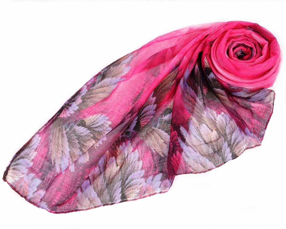 2018 New winter printed voile scarf thick warm large shawl for women