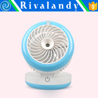 2016 best selling USA Plastic USB Rechargeable Portable Mini Handheld Fan with light