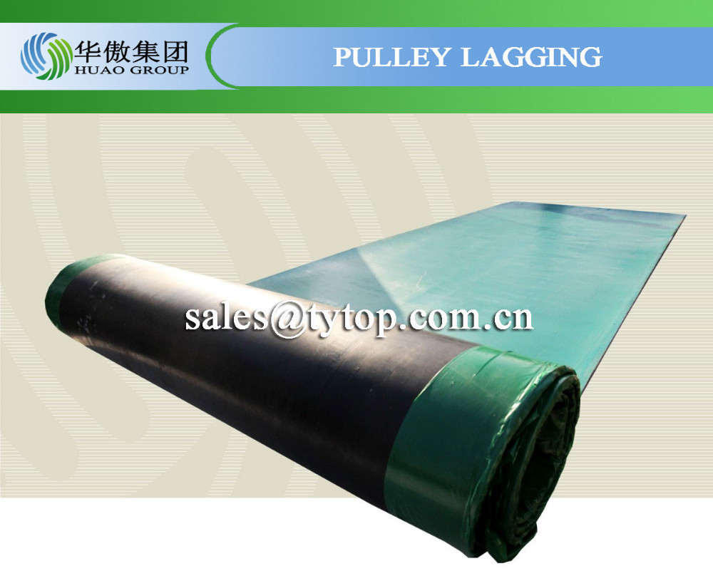 pulley lagging rubber sheet anti slip with bonding layer China Supplier