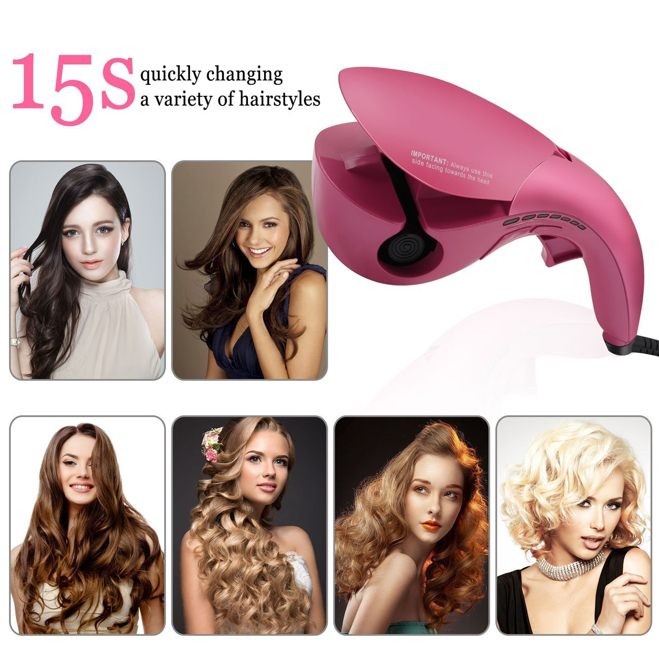 mermaid magic mini anion ceramic luxury automatic curler rolling hair curling machine curling wand curling iron