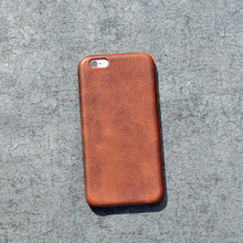 Vegetable tanning genuine leather back cover for iphone 6