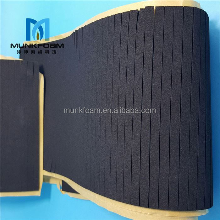 Professional manufacturer CR foam gasket sealing tape 130cm*330cm neoprene with nylon fabric