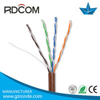 Factory supply all kinds of lan cable utp cat5e 4 pair flat cable