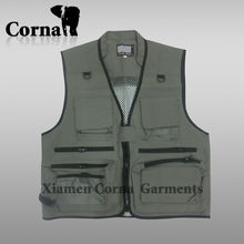 Professional Durable Mesh Man Custom Fishing Vest