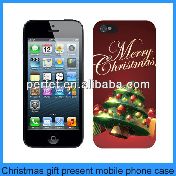 new christmas tree design mobile phone back cover for iphone5 5s