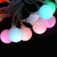 20 Leds Outdoor Solar Pannel 2V 80mAh Christmas Party Light Waterproof Garden Bulb String Light