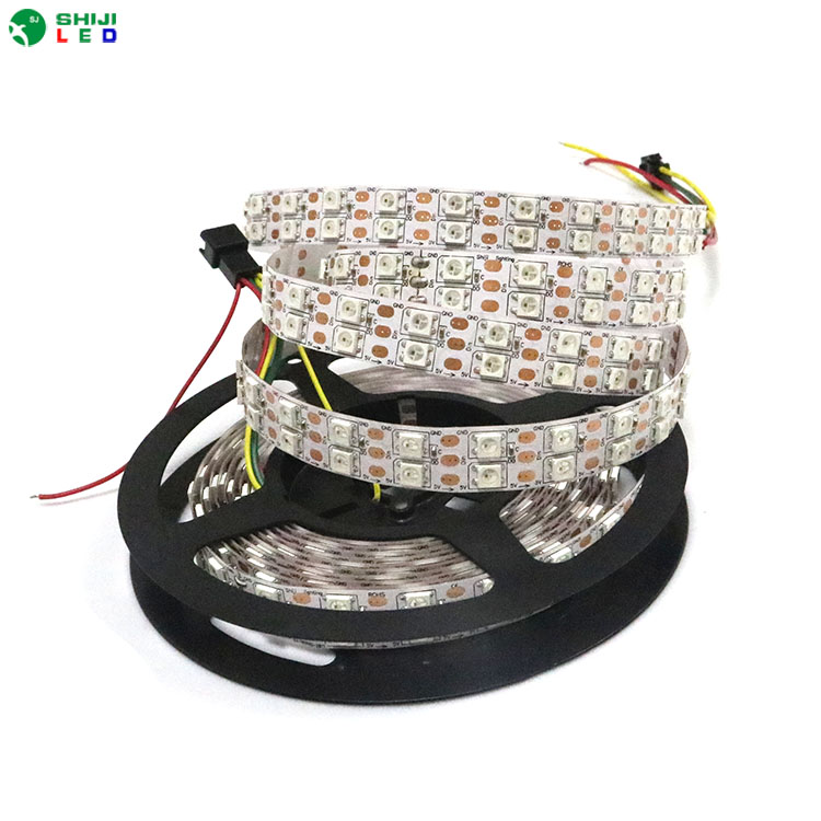 Christmas individually addressable double 1m 4m 5m waterproof ip65 ip67 5050 rgb 120 <strong>led</strong>/m 5v sk6812 ws2812 ws2812b <strong>led</strong> strip