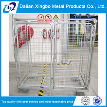 Best Brand collapsible welded wire rolling basket cage