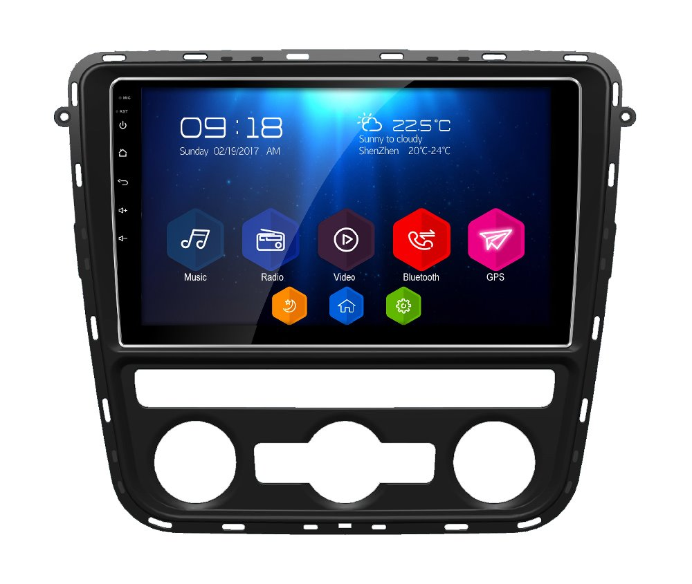 "Otojeta Big screen 9"" android 6.0.1 quad core car dvd player for VW 2012 passat radio BT wifi gps navi car stereo"