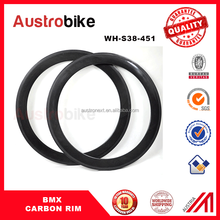 20inch bmx carbon 38mm rim 21mm width 3k matte finishing Clincher 38mm hot sale made in china