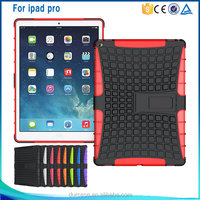 Dual Layer Tough Rugged Kickstand Hybrid Armor Heavy Duty Shockproof Case For ipad pro